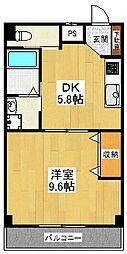 東京都世田谷区砧4丁目の賃貸マンションの間取り