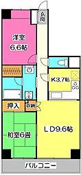 埼玉県所沢市向陽町の賃貸マンションの間取り