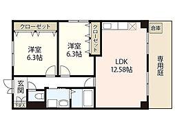 ベストハウス三入[1階]の間取り