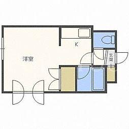 北海道札幌市東区北二十三条東3丁目の賃貸マンションの間取り