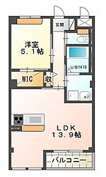 静岡県浜松市南区高塚町の賃貸アパートの間取り