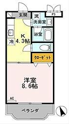 神奈川県相模原市緑区二本松2丁目の賃貸マンションの間取り