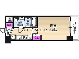 NO77 HANATEN 001 5階1Kの間取り