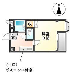 愛知県稲沢市正明寺2丁目の賃貸マンションの間取り