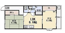 ネオコーポ寺澤2号館[2階]の間取り