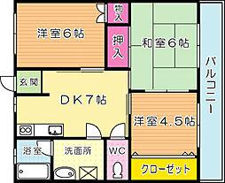 第2中村ビル[401号室]の間取り
