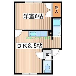 北海道札幌市東区伏古二条5丁目の賃貸アパートの間取り