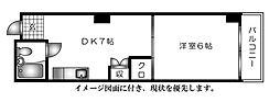 広島県広島市西区三篠北町の賃貸マンションの間取り