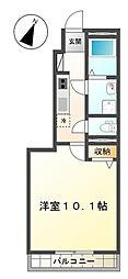 埼玉県さいたま市岩槻区府内1丁目の賃貸アパートの間取り