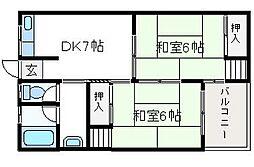 三和マンション[103号室]の間取り