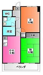埼玉県川口市元郷1の賃貸マンションの間取り