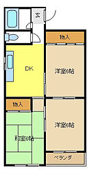 愛知県名古屋市瑞穂区中根町3丁目の賃貸マンションの間取り