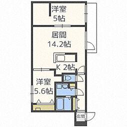シャトーブラン65[3階]の間取り