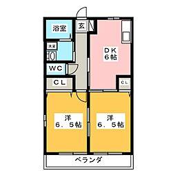 グレイス大平台[1階]の間取り