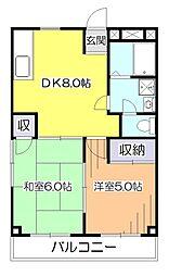 東京都西東京市芝久保町1丁目の賃貸マンションの間取り
