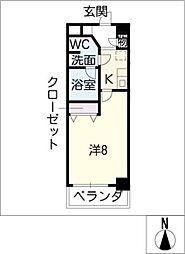 セイワソレイルコート[5階]の間取り