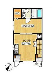 lea ohana(レアオハナ)[1階]の間取り