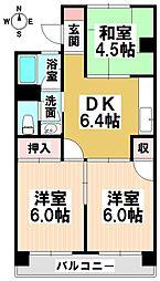 愛知県名古屋市瑞穂区佐渡町2の賃貸マンションの間取り