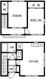 [テラスハウス] 神奈川県横浜市中区本牧原 の賃貸【/】の間取り