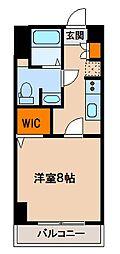 ステーションフロント八幡宿[402号室]の間取り
