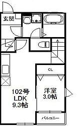 パサージュ箱崎 1階1LDKの間取り