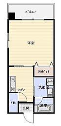 沖縄都市モノレール 市立病院前駅 徒歩10分の賃貸アパート 3階1Kの間取り