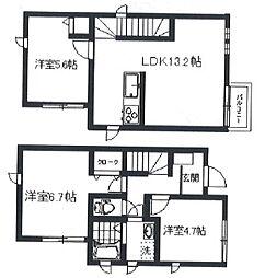 [一戸建] 東京都板橋区三園1丁目 の賃貸【/】の間取り