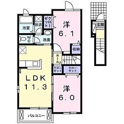 まりばさみII[2階]の間取り