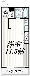 東京都大田区南久が原2丁目の賃貸マンションの間取り