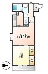 ゲストハウスレインボー伏見[6階]の間取り