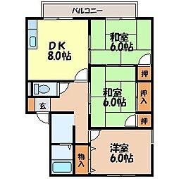 長崎県諫早市仲沖町の賃貸アパートの間取り
