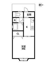 コーポ秋桜[205号室]の間取り