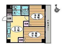 東京都江戸川区中葛西4丁目の賃貸マンションの間取り