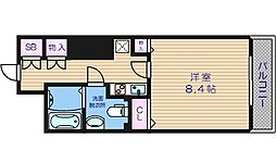 メゾン・ド・ヴィレ大阪城公園前 12階1Kの間取り