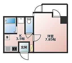 MIYABI(RH) 1階1Kの間取り