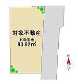 接道間口 約13.4mのすっきりとした整形地。