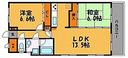 グランビュー薬院[5階]の間取り