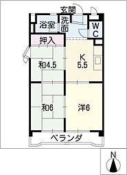 シャトー共栄A棟[2階]の間取り