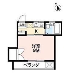 埼玉県所沢市西所沢1丁目の賃貸アパートの間取り