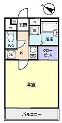 レオパレスSHO3[2階]の間取り