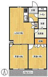 セレーノコート[2階]の間取り