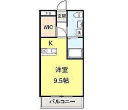 みやまマンション[206号室]の間取り