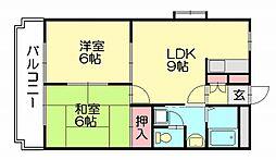 ベアハウス[2階]の間取り