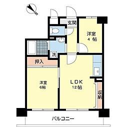 グレース大阪港[4階]の間取り