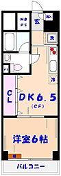市川ファミリーマンション[517号室]の間取り