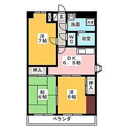 シティハイム田町[5階]の間取り