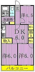 ヤマサイビル[3階]の間取り