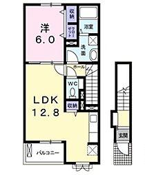 グラチチュードI[2階]の間取り
