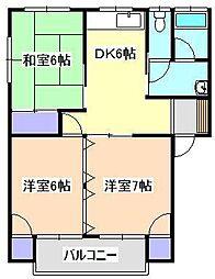 コーポ田辺4[1階]の間取り