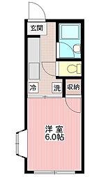 セジュール片田[0201号室]の間取り
